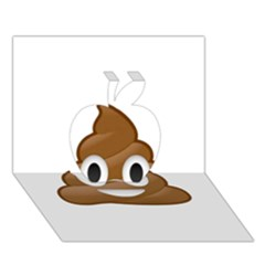 Poop Apple 3d Greeting Card (7x5)  by redcow