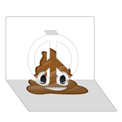 Poop Peace Sign 3d Greeting Card (7x5)