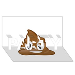Poop Party 3d Greeting Card (8x4)  by redcow