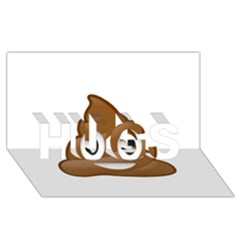 Poop Hugs 3d Greeting Card (8x4)  by redcow