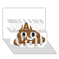 Poop Thank You 3d Greeting Card (7x5)  by redcow