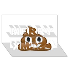 Poop Merry Xmas 3d Greeting Card (8x4)  by redcow