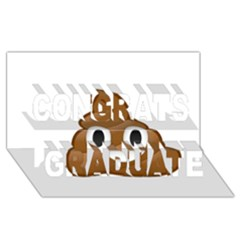 Poop Congrats Graduate 3d Greeting Card (8x4)  by redcow