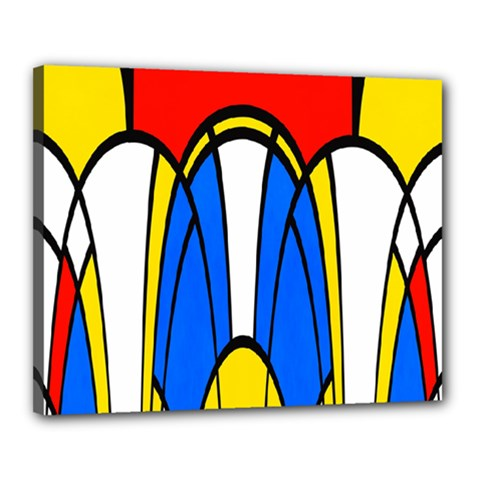 Colorful Distorted Shapes Canvas 20  X 16  (stretched) by LalyLauraFLM