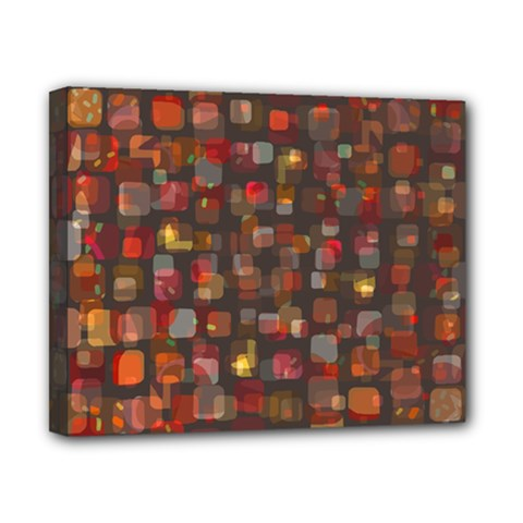 Floating Squares Canvas 10  X 8  (stretched) by LalyLauraFLM