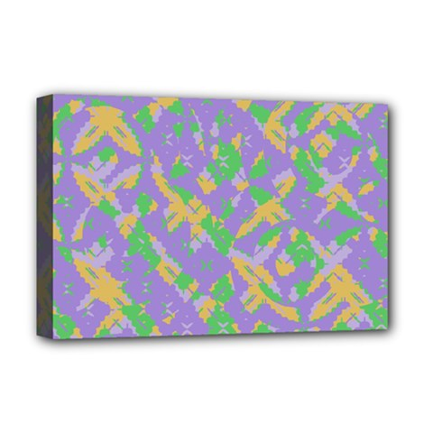 Mixed Shapes Deluxe Canvas 18  X 12  (stretched) by LalyLauraFLM