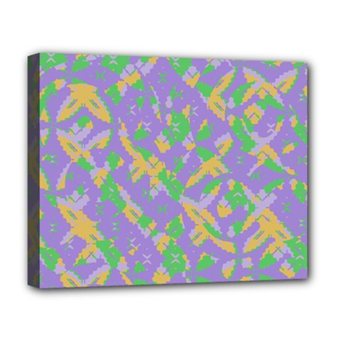 Mixed Shapes Deluxe Canvas 20  X 16  (stretched) by LalyLauraFLM