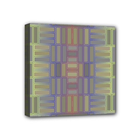 Gradient Rectangles Mini Canvas 4  X 4  (stretched) by LalyLauraFLM