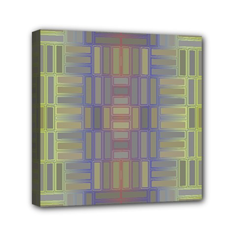 Gradient Rectangles Mini Canvas 6  X 6  (stretched) by LalyLauraFLM