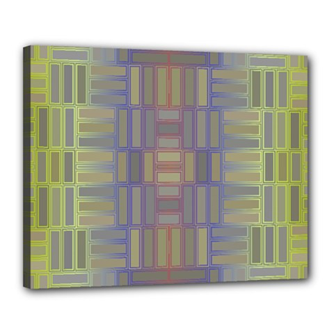 Gradient Rectangles Canvas 20  X 16  (stretched) by LalyLauraFLM