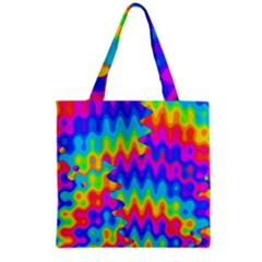 Amazing Acid Rainbow Grocery Tote Bags by KirstenStar