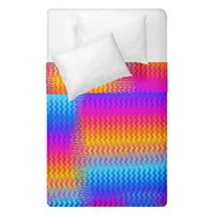 Psychedelic Rainbow Heat Waves Duvet Cover (single Size) by KirstenStar