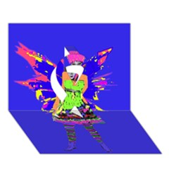 Fairy Punk Ribbon 3d Greeting Card (7x5)  by icarusismartdesigns