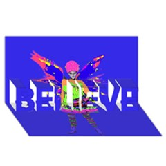 Fairy Punk Believe 3d Greeting Card (8x4)  by icarusismartdesigns