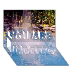 Splash 3 You Are Invited 3d Greeting Card (7x5)  by icarusismartdesigns