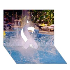 Splash 3 Ribbon 3d Greeting Card (7x5)  by icarusismartdesigns