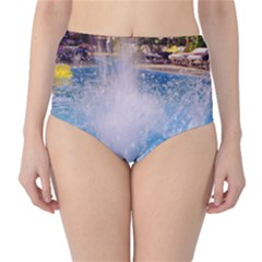 Splash 3 High-waist Bikini Bottoms by icarusismartdesigns