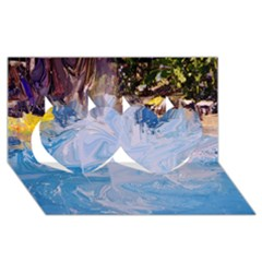 Splash 4 Twin Hearts 3d Greeting Card (8x4)  by icarusismartdesigns
