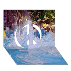 Splash 4 Peace Sign 3d Greeting Card (7x5)  by icarusismartdesigns
