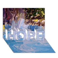 Splash 4 Hope 3d Greeting Card (7x5)  by icarusismartdesigns