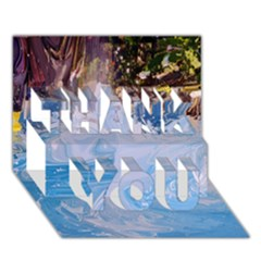 Splash 4 Thank You 3d Greeting Card (7x5)  by icarusismartdesigns