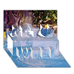 Splash 4 Get Well 3d Greeting Card (7x5)  by icarusismartdesigns