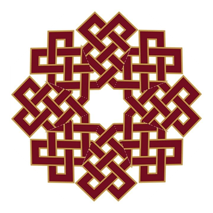 Buddhist Endless Knot Auspicious Symbol Folding Umbrella Cowcow