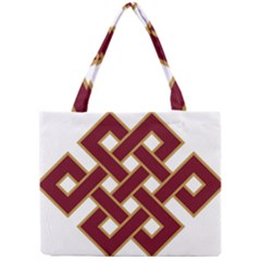 Buddhist Endless Knot Auspicious Symbol Mini Tote Bag by CrypticFragmentsColors