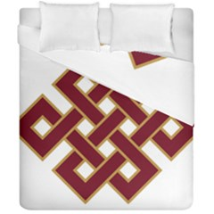 Buddhist Endless Knot Auspicious Symbol Duvet Cover (double Size) by CrypticFragmentsColors