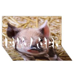 Sweet Piglet Engaged 3d Greeting Card (8x4)  by ImpressiveMoments
