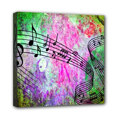 Abstract Music  Mini Canvas 8  X 8