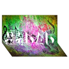 Abstract Music  #1 Dad 3d Greeting Card (8x4)  by ImpressiveMoments