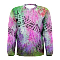 Abstract Music  Men s Long Sleeve T Shirts