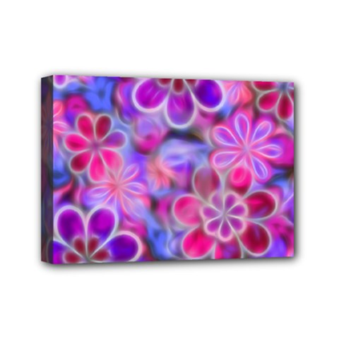 Pretty Floral Painting Mini Canvas 7  X 5  by KirstenStar