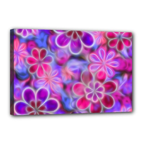 Pretty Floral Painting Canvas 18  X 12  by KirstenStar