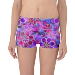 Pretty Floral Painting Reversible Boyleg Bikini Bottoms by KirstenStar