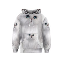 White Persian Cat Clipart Kid s Pullover Hoodies by AlteredStates