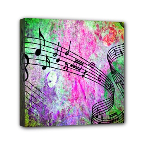 Abstract Music 2 Mini Canvas 6  X 6