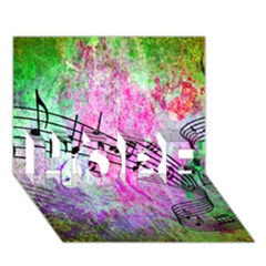 Abstract Music 2 Hope 3d Greeting Card (7x5)  by ImpressiveMoments
