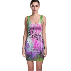 Abstract Music 2 Bodycon Dresses