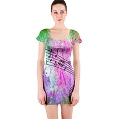 Abstract Music 2 Short Sleeve Bodycon Dresses