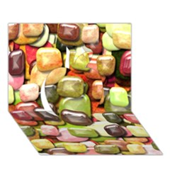 Stones 001 Apple 3d Greeting Card (7x5)