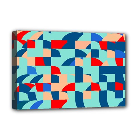 Miscellaneous Shapes Deluxe Canvas 18  X 12  (stretched) by LalyLauraFLM