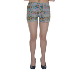 Retro Dots Pattern Skinny Shorts by LalyLauraFLM