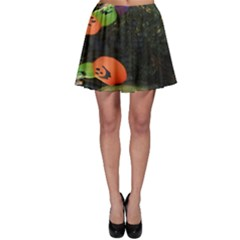 Floating Pumpkins Skater Skirts by gothicandhalloweenstore