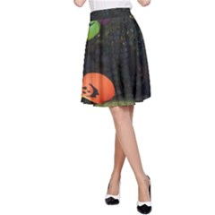 Floating Pumpkins A Line Skirts by gothicandhalloweenstore