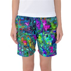 Inked Spot Fractal Art Women s Basketball Shorts by TheWowFactor