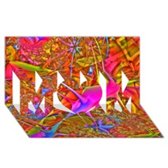 Biology 101 Abstract Mom 3d Greeting Card (8x4)