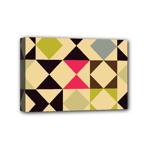 Rhombus And Triangles Pattern Mini Canvas 6  X 4  (stretched) by LalyLauraFLM