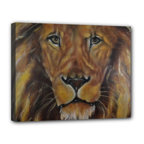 Cecil The African Lion Canvas 14  X 11  by timelessartoncanvas
